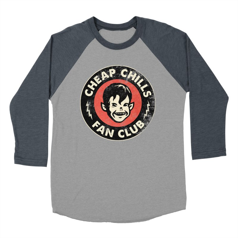 Cheap Chills Fan Club Men's Baseball Triblend Longsleeve T-Shirt by Cheap Chills Fan Club