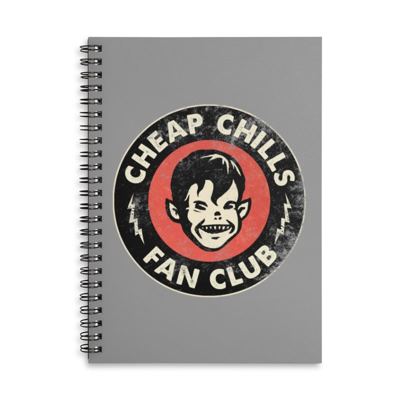 Cheap Chills Fan Club Accessories Lined Spiral Notebook by Cheap Chills Fan Club