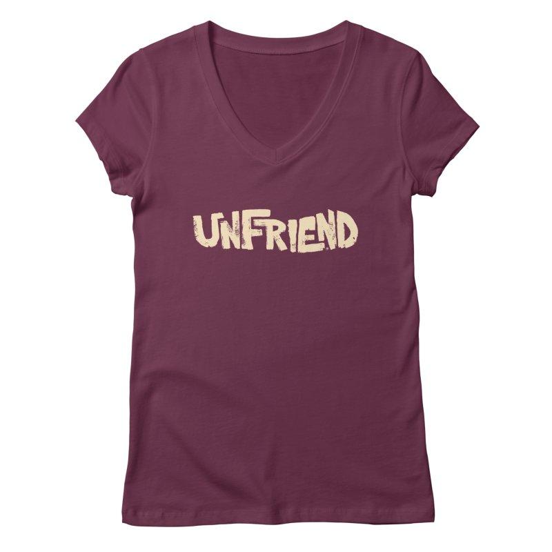 UNFRIEND Women's V-Neck by Cheap Chills Fan Club