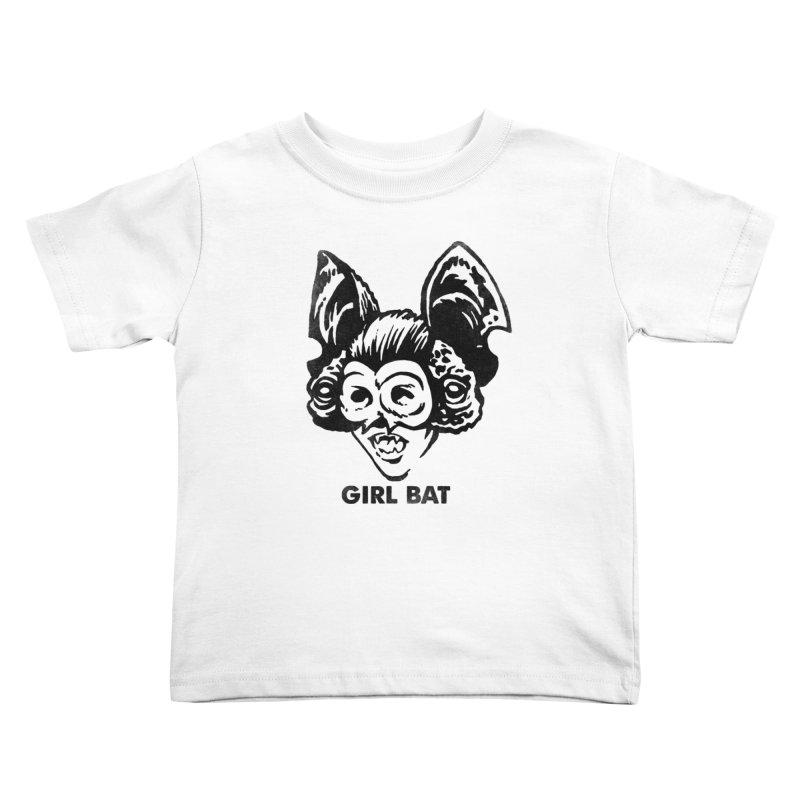 Girl Bat 2 Kids Toddler T-Shirt by Cheap Chills Fan Club