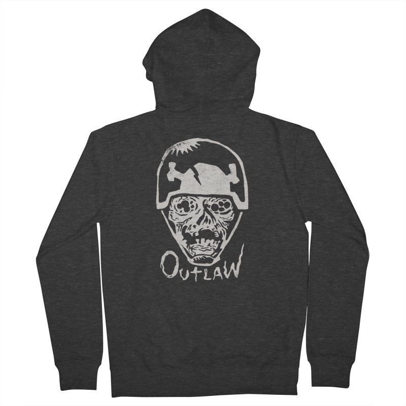 Outlaw Men's Zip-Up Hoody by Cheap Chills Fan Club