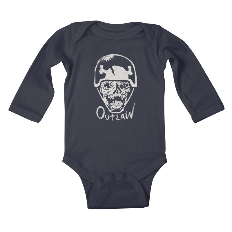 Outlaw Kids Baby Longsleeve Bodysuit by Cheap Chills Fan Club