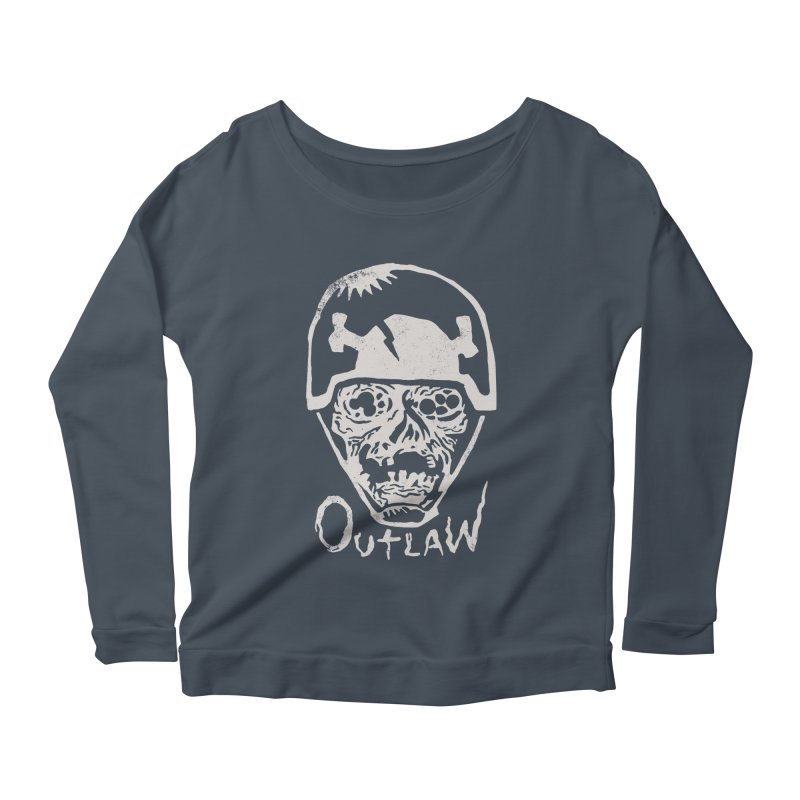 Outlaw Women's Longsleeve Scoopneck  by Cheap Chills Fan Club