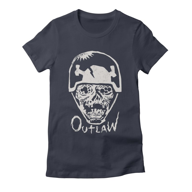 Outlaw Women's Fitted T-Shirt by Cheap Chills Fan Club