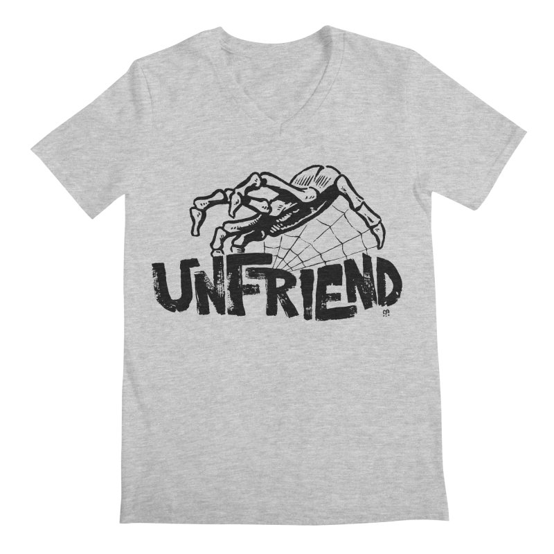 Unfriendead Men's V-Neck by Cheap Chills Fan Club