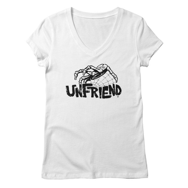 Unfriendead Women's V-Neck by Cheap Chills Fan Club