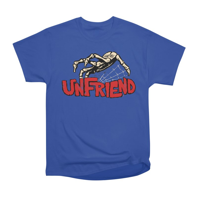 Unfriend three color extra spooky edtion Men's Classic T-Shirt by Cheap Chills Fan Club