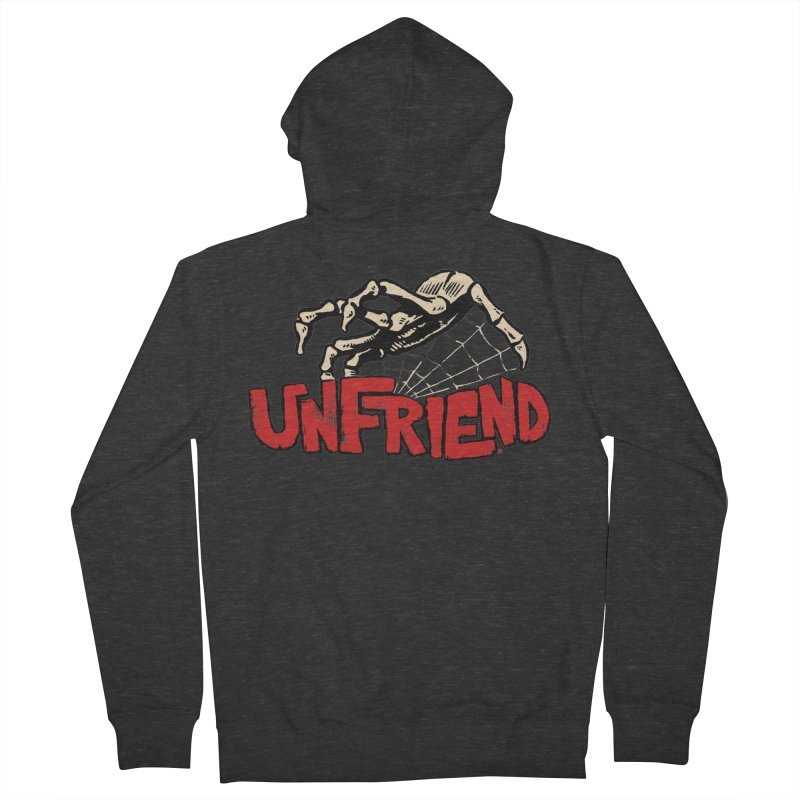 Unfriend three color extra spooky edtion Women's Zip-Up Hoody by Cheap Chills Fan Club