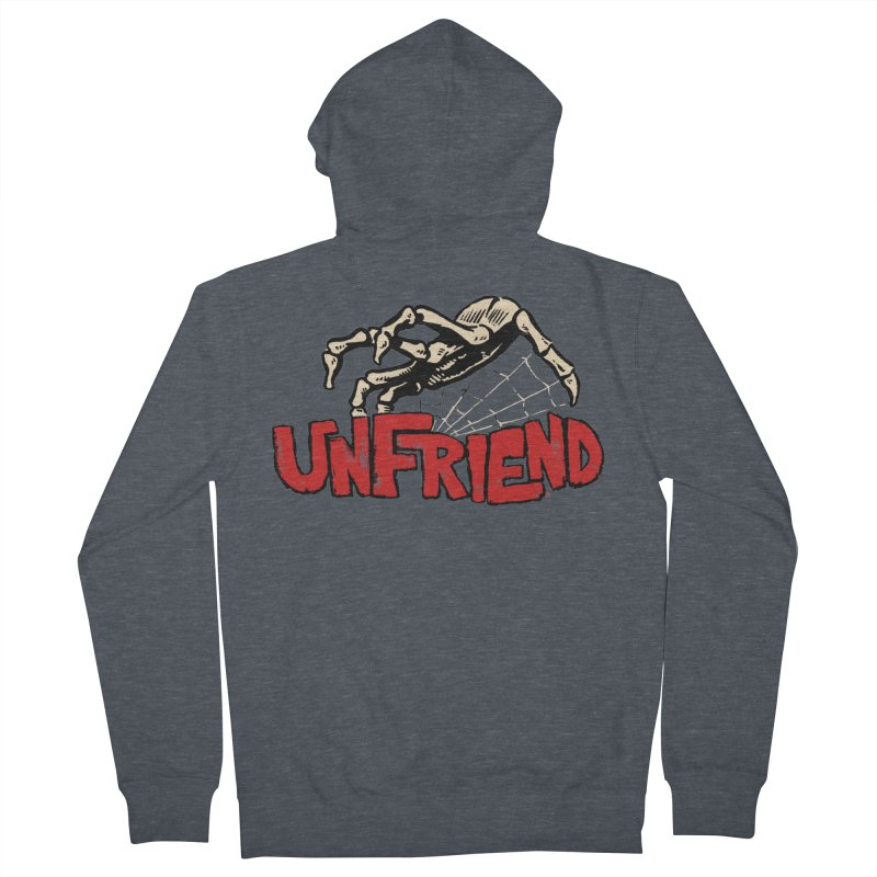 Unfriend three color extra spooky edtion Men's Zip-Up Hoody by Cheap Chills Fan Club