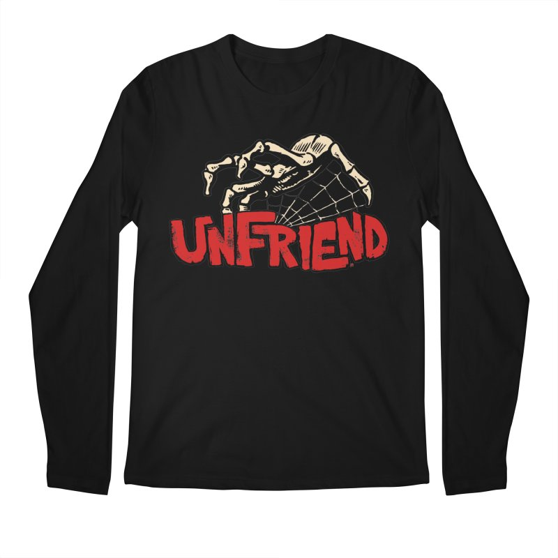 Unfriend three color extra spooky edtion Men's Longsleeve T-Shirt by Cheap Chills Fan Club