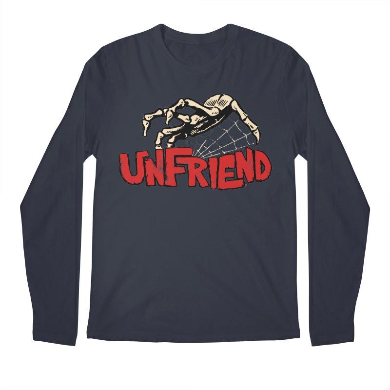 Unfriend three color extra spooky edtion Men's Regular Longsleeve T-Shirt by Cheap Chills Fan Club