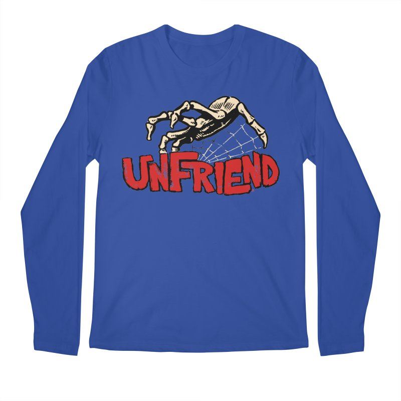 Unfriend three color extra spooky edtion Men's Longsleeve T-Shirt by Cheap Chills Fan Club