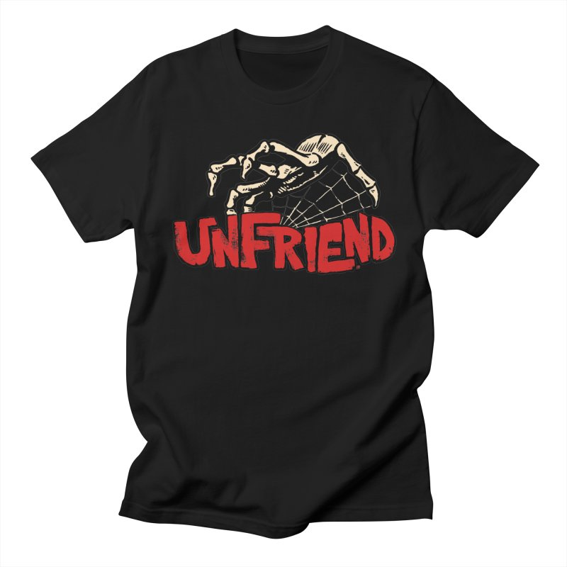 Unfriend three color extra spooky edtion Women's Unisex T-Shirt by Cheap Chills Fan Club