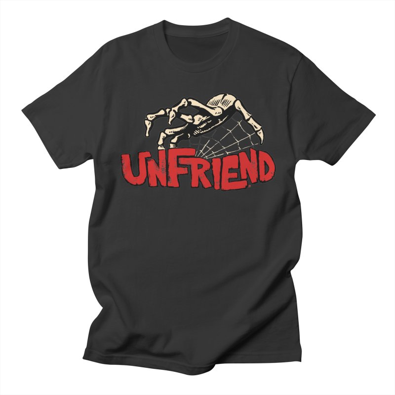 Unfriend three color extra spooky edtion in Men's T-shirt Smoke by Cheap Chills Fan Club