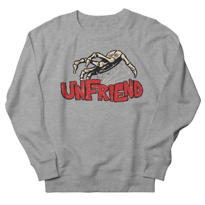 Unfriend three color extra spooky edtion Men's Sweatshirt by Cheap Chills Fan Club