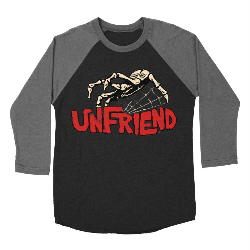 Unfriend three color extra spooky edtion Women's Baseball Triblend T-Shirt by Cheap Chills Fan Club