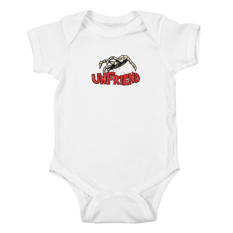 Unfriend three color extra spooky edtion Kids Baby Bodysuit by Cheap Chills Fan Club