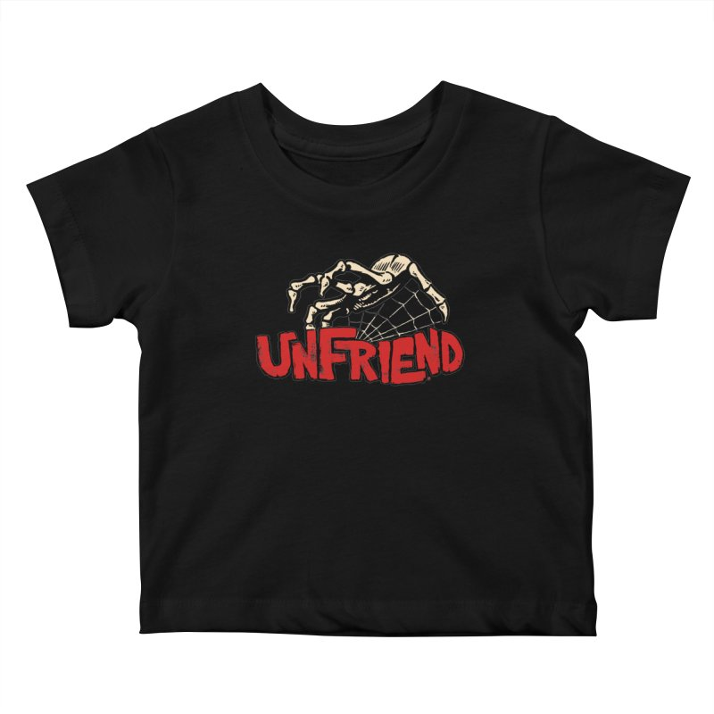 Unfriend three color extra spooky edtion Kids Baby T-Shirt by Cheap Chills Fan Club