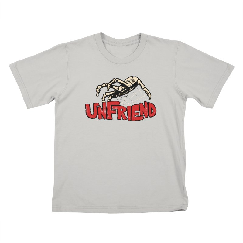 Unfriend three color extra spooky edtion Kids T-shirt by Cheap Chills Fan Club