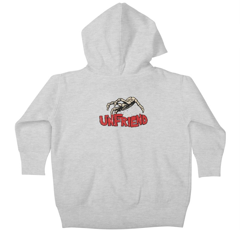 Unfriend three color extra spooky edtion Kids Baby Zip-Up Hoody by Cheap Chills Fan Club