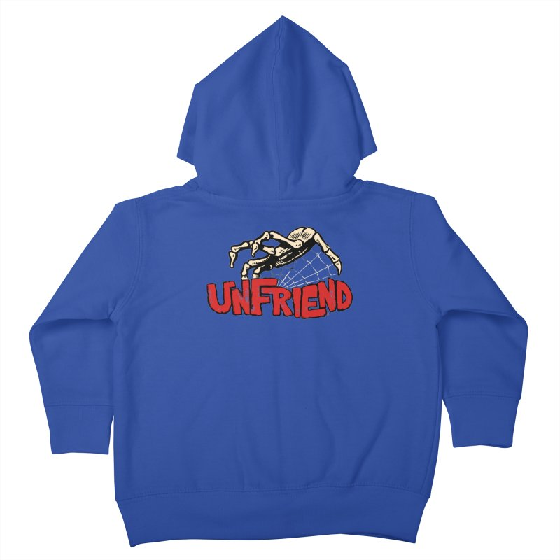 Unfriend three color extra spooky edtion Kids Toddler Zip-Up Hoody by Cheap Chills Fan Club