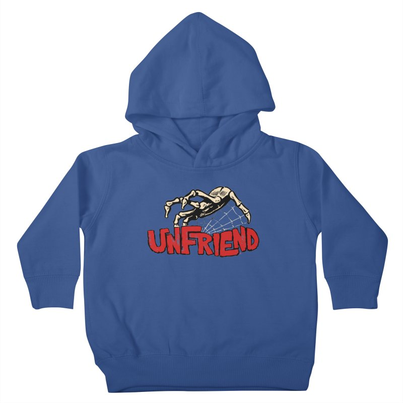 Unfriend three color extra spooky edtion Kids Toddler Pullover Hoody by Cheap Chills Fan Club