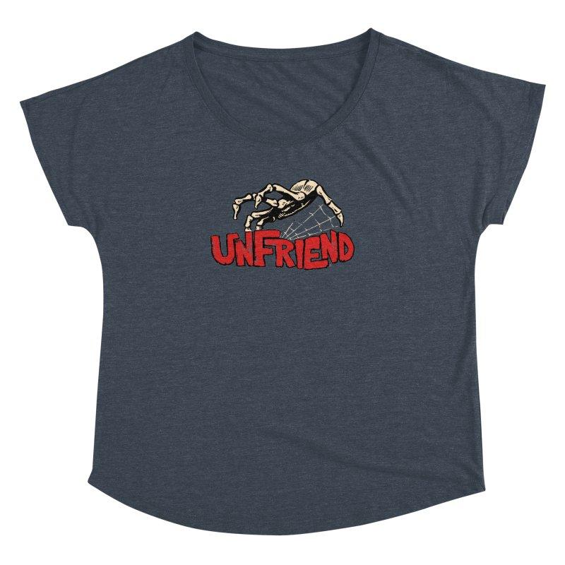 Unfriend three color extra spooky edtion Women's Dolman by Cheap Chills Fan Club