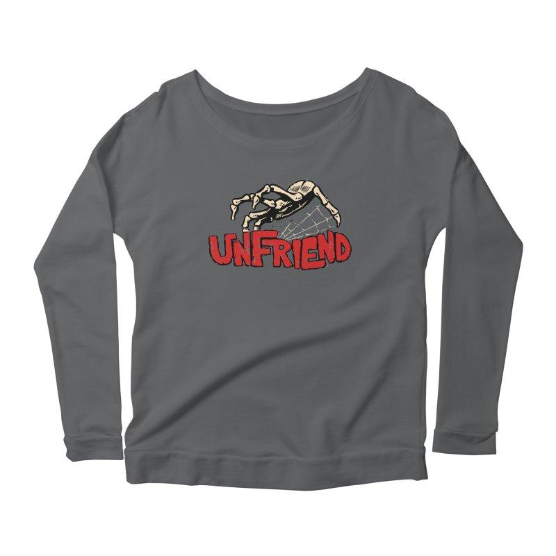 Unfriend three color extra spooky edtion Women's Scoop Neck Longsleeve T-Shirt by Cheap Chills Fan Club