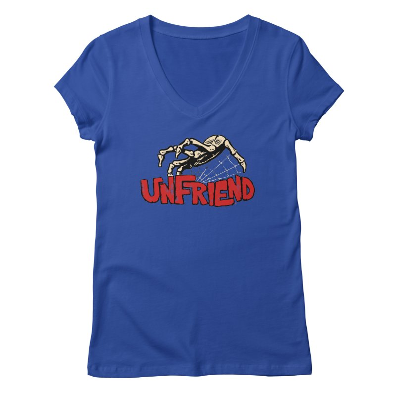 Unfriend three color extra spooky edtion Women's Regular V-Neck by Cheap Chills Fan Club