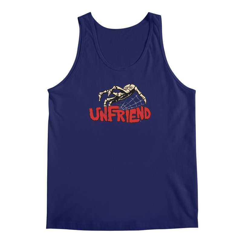 Unfriend three color extra spooky edtion Men's Tank by Cheap Chills Fan Club