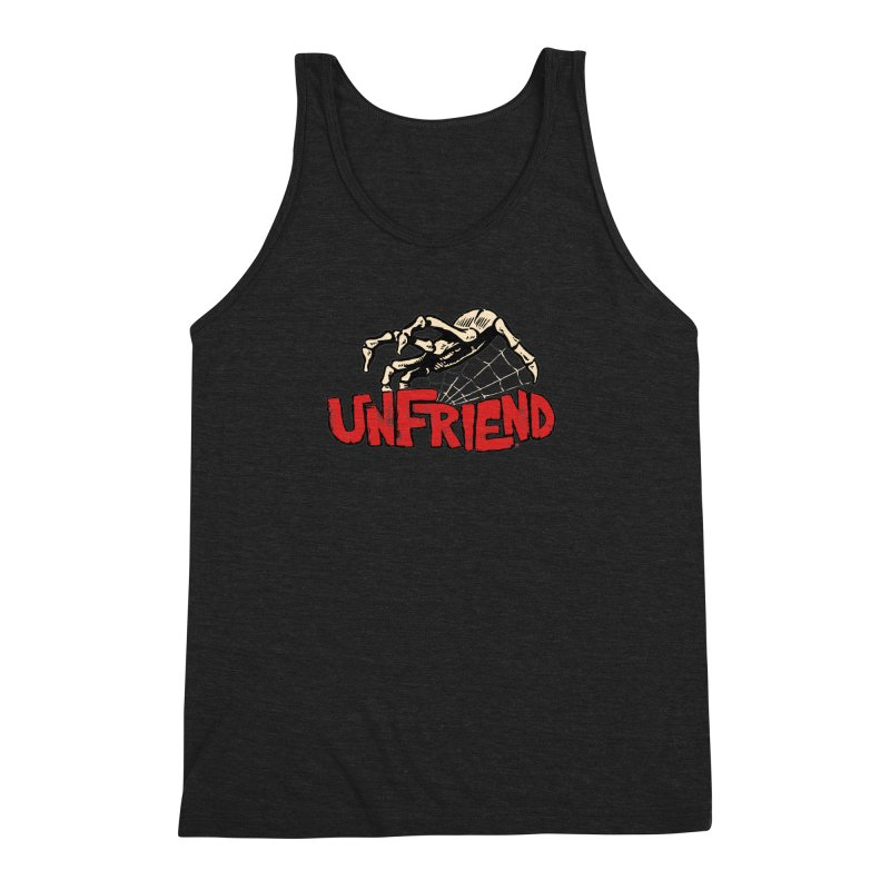 Unfriend three color extra spooky edtion Men's Triblend Tank by Cheap Chills Fan Club