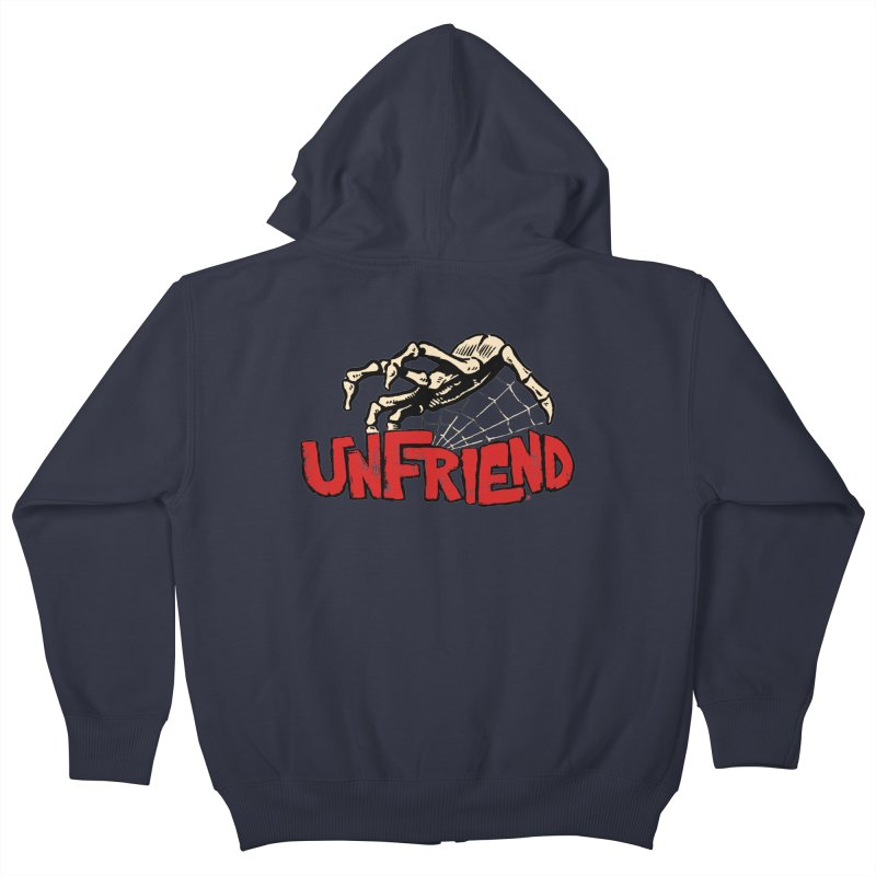 Unfriend three color extra spooky edtion Kids Zip-Up Hoody by Cheap Chills Fan Club