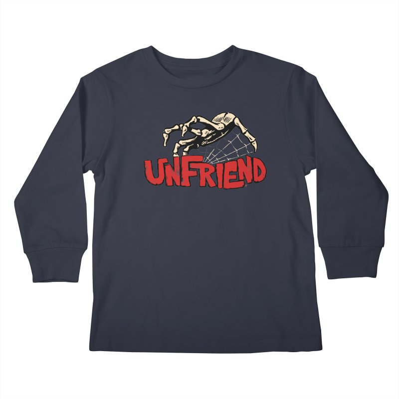 Unfriend three color extra spooky edtion Kids Longsleeve T-Shirt by Cheap Chills Fan Club