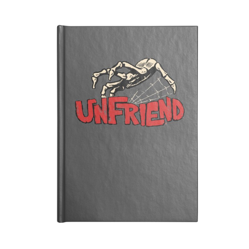Unfriend three color extra spooky edtion Accessories Notebook by Cheap Chills Fan Club