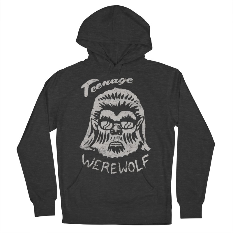 Teenage Werewolf - Silver edition Men's French Terry Pullover Hoody by Cheap Chills Fan Club