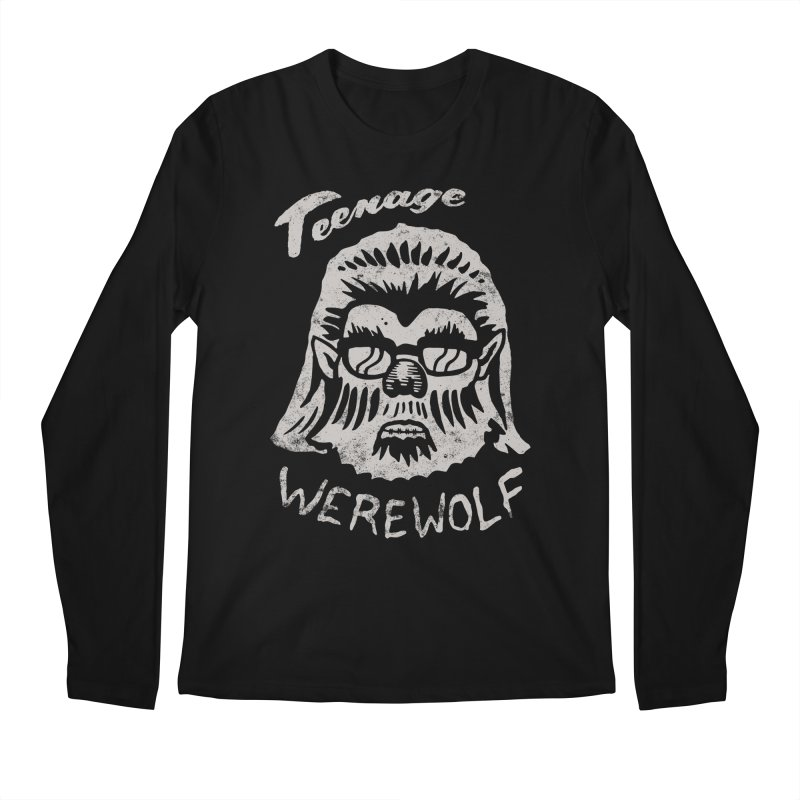 Teenage Werewolf - Silver edition Men's Longsleeve T-Shirt by Cheap Chills Fan Club