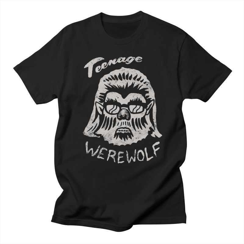 Teenage Werewolf - Silver edition in Men's T-shirt Black by Cheap Chills Fan Club