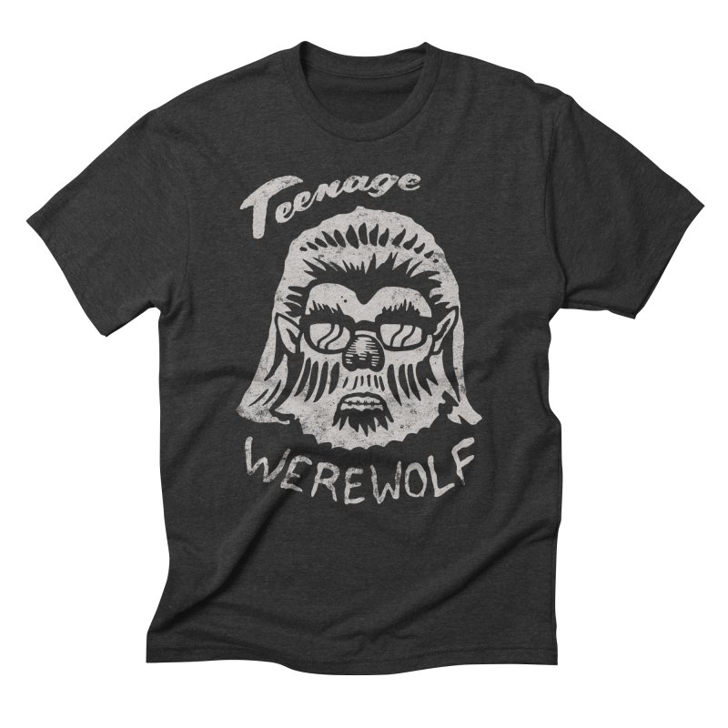 Teenage Werewolf - Silver edition Men's Triblend T-shirt by Cheap Chills Fan Club