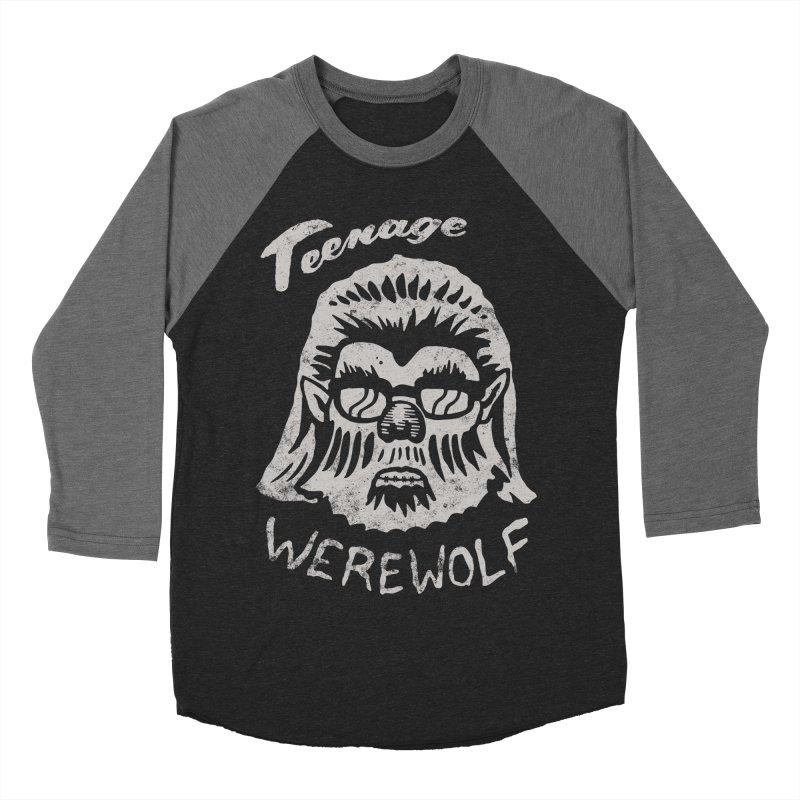 Teenage Werewolf - Silver edition Women's Baseball Triblend T-Shirt by Cheap Chills Fan Club