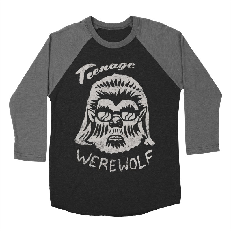 Teenage Werewolf - Silver edition Men's Baseball Triblend T-Shirt by Cheap Chills Fan Club