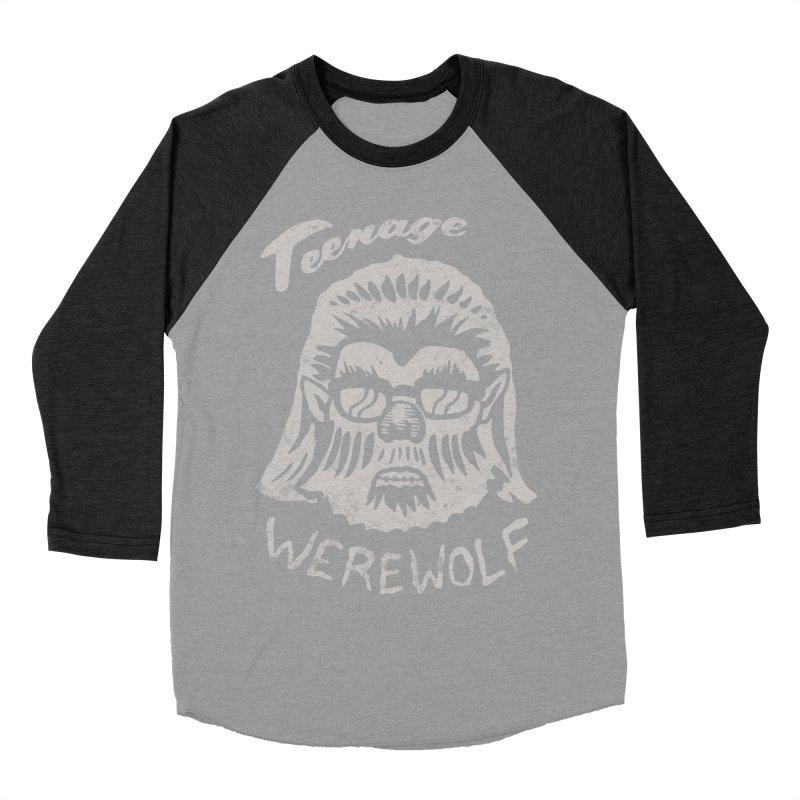 Teenage Werewolf - Silver edition Men's Baseball Triblend T-Shirt by Cheap Chills Fan Club
