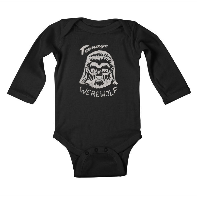 Teenage Werewolf - Silver edition Kids Baby Longsleeve Bodysuit by Cheap Chills Fan Club