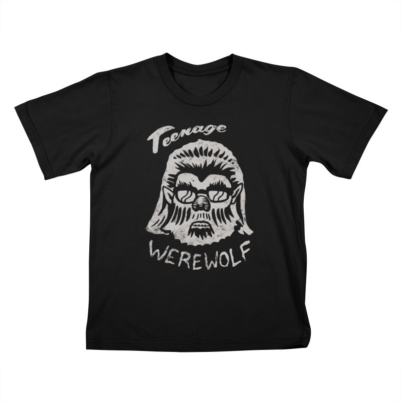 Teenage Werewolf - Silver edition Kids T-shirt by Cheap Chills Fan Club