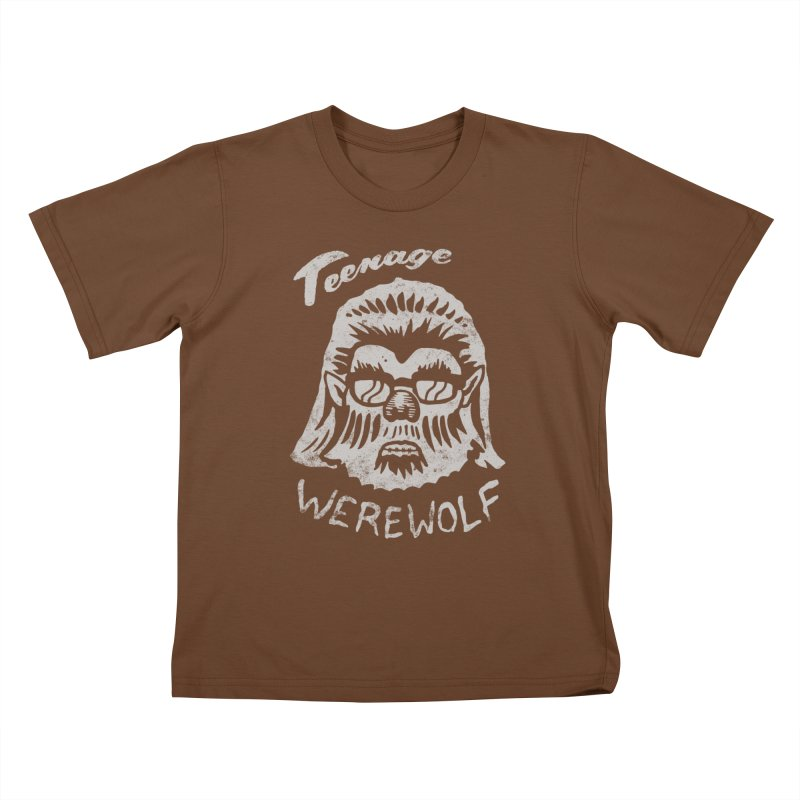 Teenage Werewolf - Silver edition Kids T-Shirt by Cheap Chills Fan Club