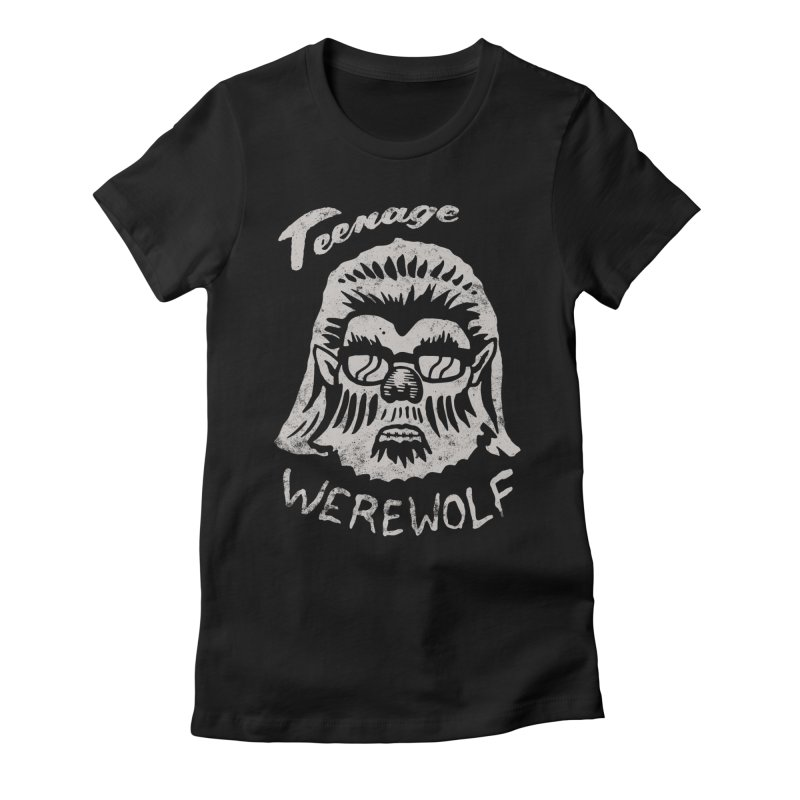 Teenage Werewolf - Silver edition Women's Fitted T-Shirt by Cheap Chills Fan Club