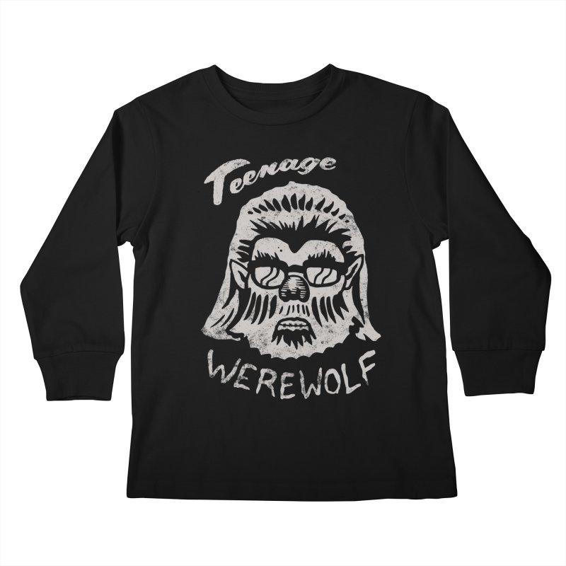 Teenage Werewolf - Silver edition Kids Longsleeve T-Shirt by Cheap Chills Fan Club