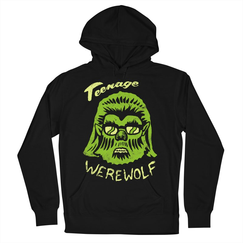 Teenage Werewolf - moonlight edition Men's French Terry Pullover Hoody by Cheap Chills Fan Club