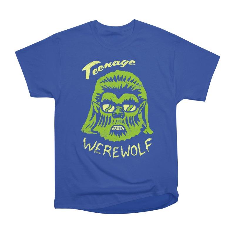 Teenage Werewolf - moonlight edition Women's Heavyweight Unisex T-Shirt by Cheap Chills Fan Club