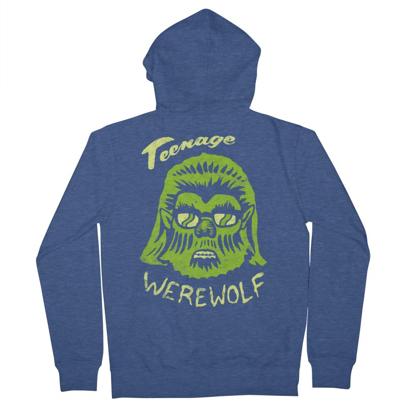 Teenage Werewolf - moonlight edition Men's Zip-Up Hoody by Cheap Chills Fan Club