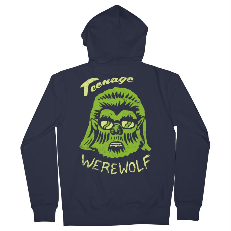 Teenage Werewolf - moonlight edition Men's Zip-Up Hoody by Cheap Chills Fan Club